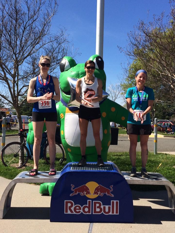 2017 American River 50 Mile women's podium