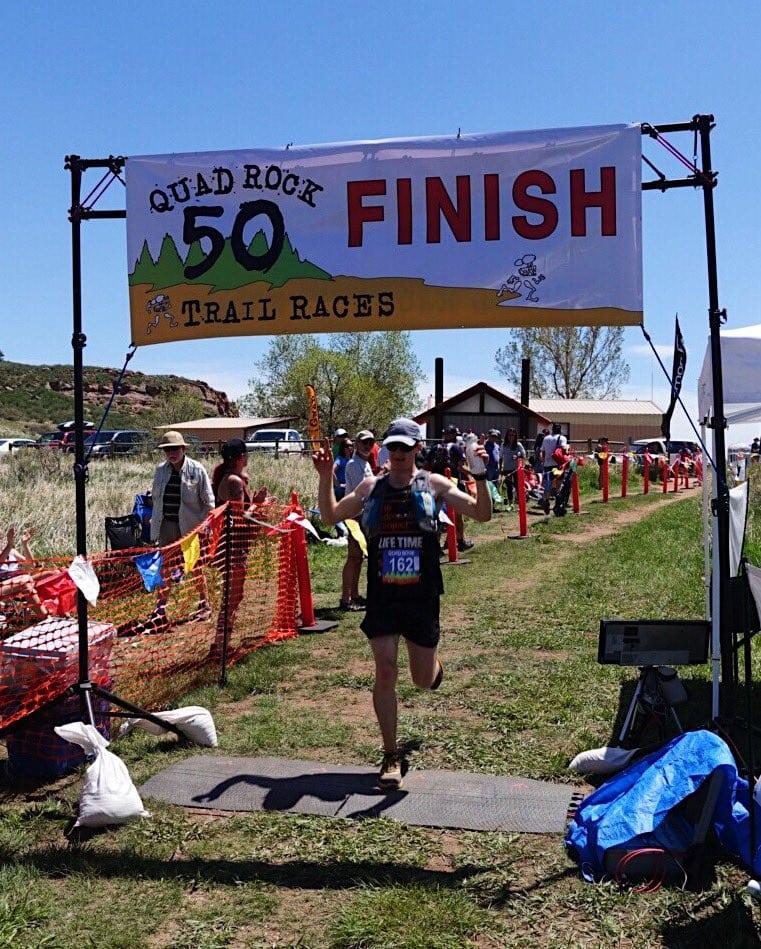 Jim Rebenack - 2017 Quad Rock 50 Mile champion
