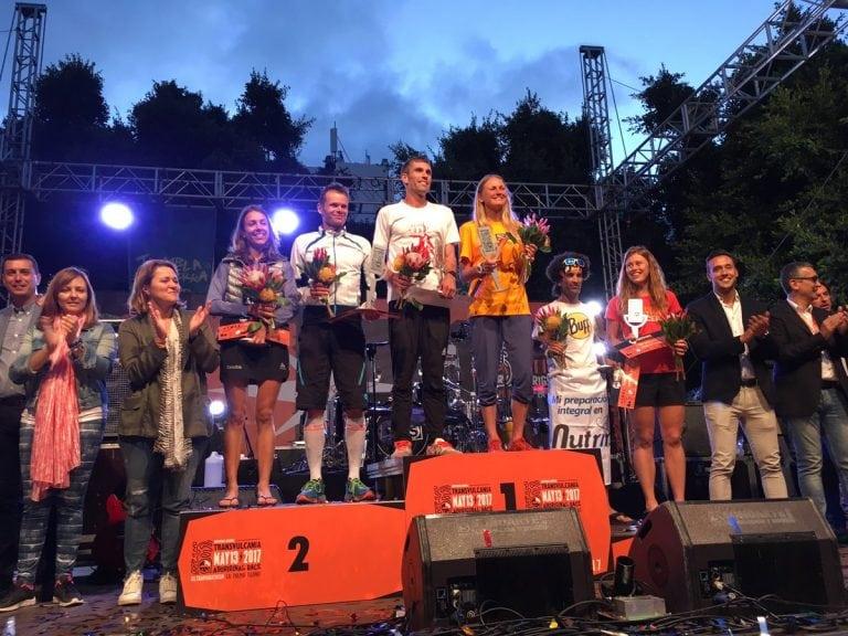 2017 Transvulcania Ultramarathon mens and womens podiums
