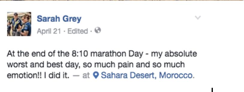 Sarah Grey Facebook 2