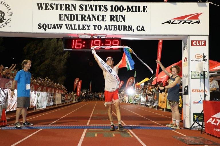 Ryan Sandes - 2017 Western States 100 Finsh