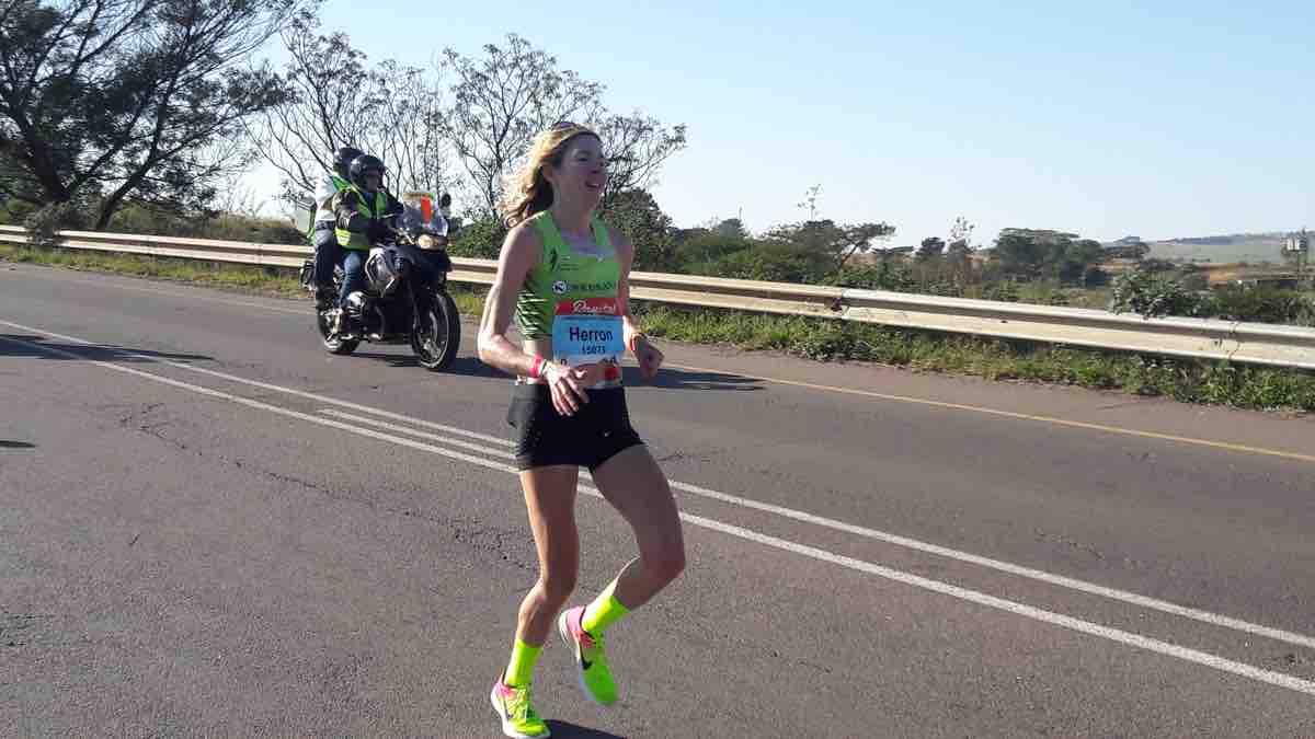 Camille Herron during the 2017 Comrades Marathon 2
