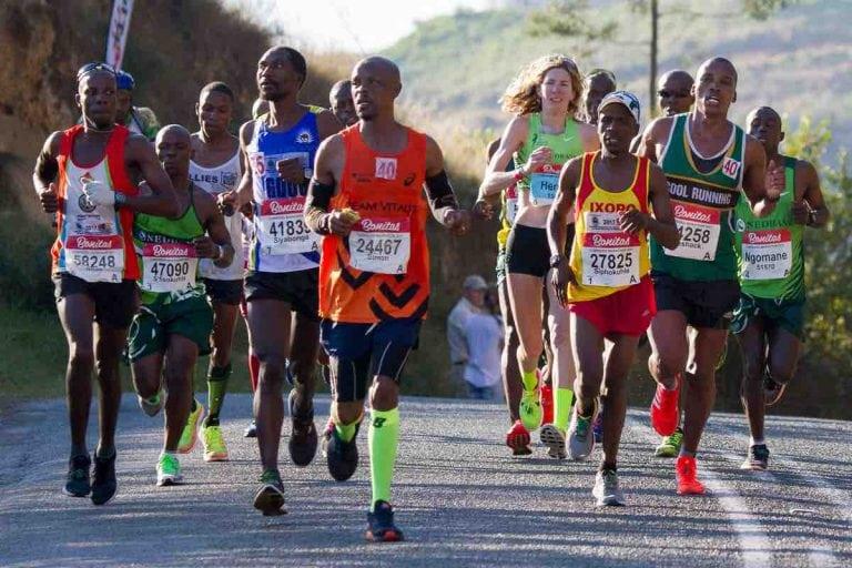 Camille Herron during the 2017 Comrades Marathon