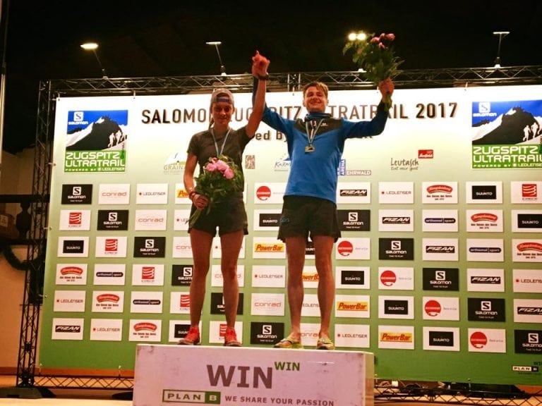 Thomas Farbmacher and Lisa Mehl - 2017 Zugspitz Ultratrail champions