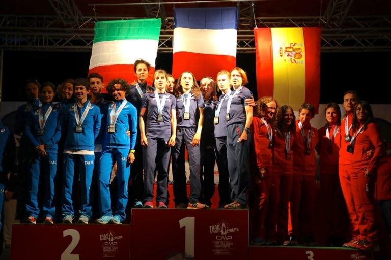 2017 Trail World Championships - women's team podium
