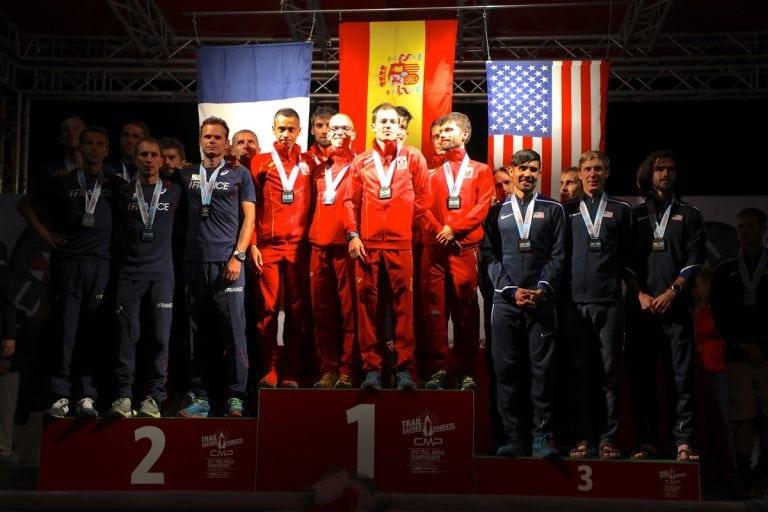 2017 Trail World Championships - men's team podium