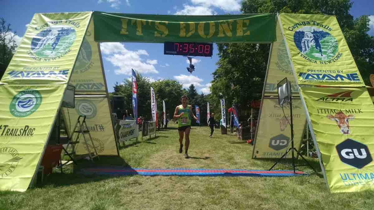 Chris Rauli, 2017 Cayuga Trails 50 Mile champion