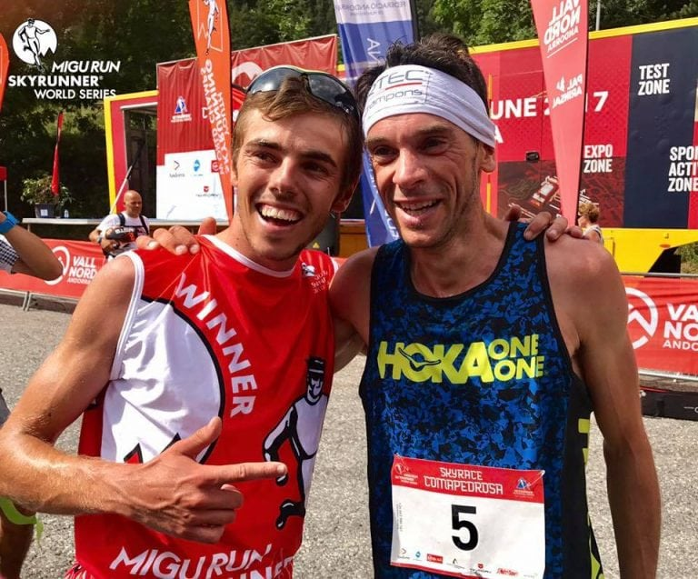 Jan Margarit and Marco De Gasperi - 2017 Skyrace Comapedrosa men's first and second places