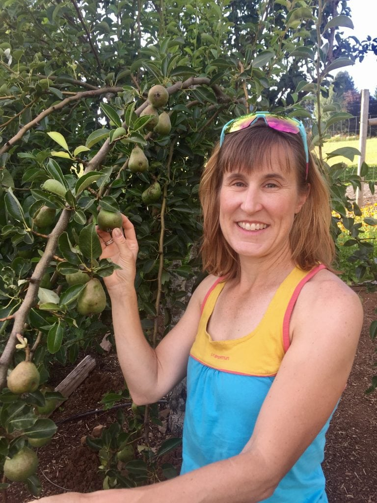 Pam Smith and her pear tree