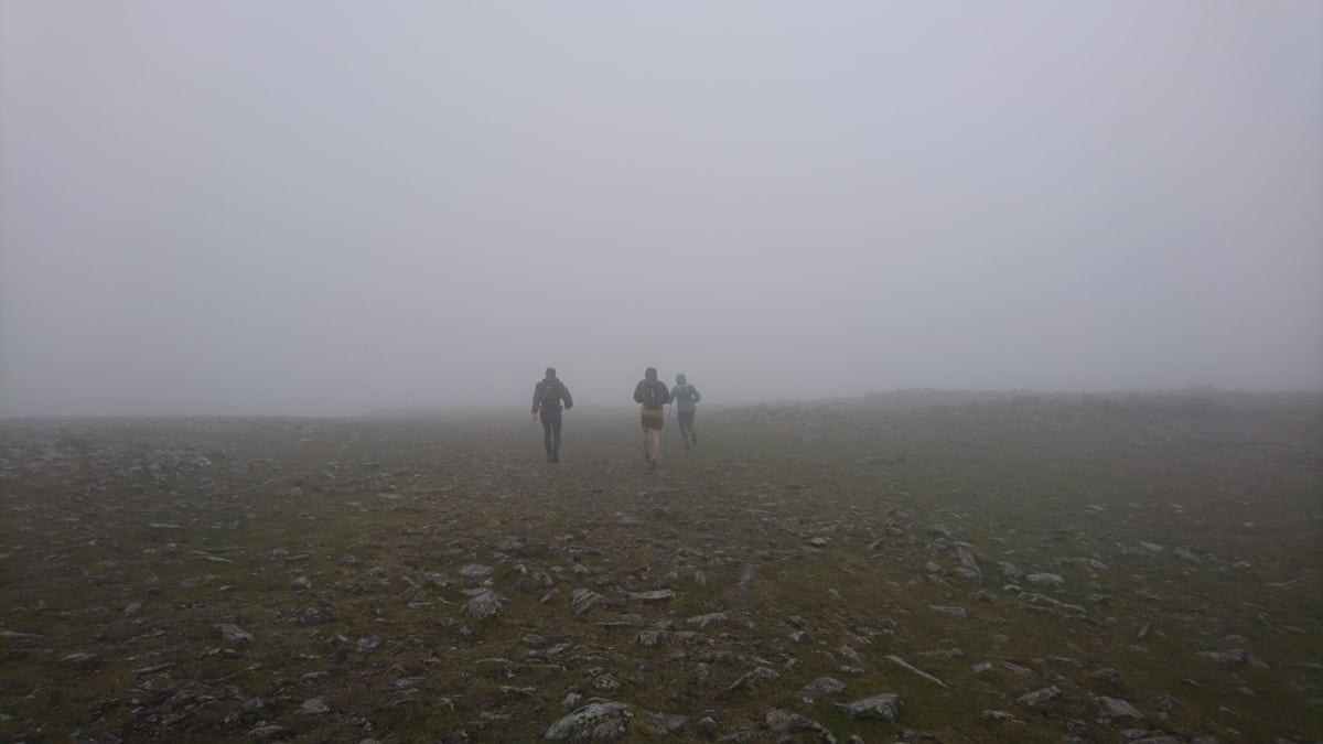 Near the Fairfield summit on Leg 2