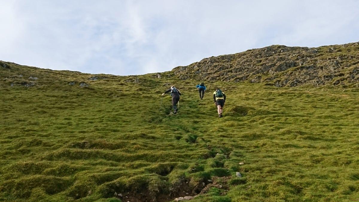 Ascending Clough Head on Leg 2