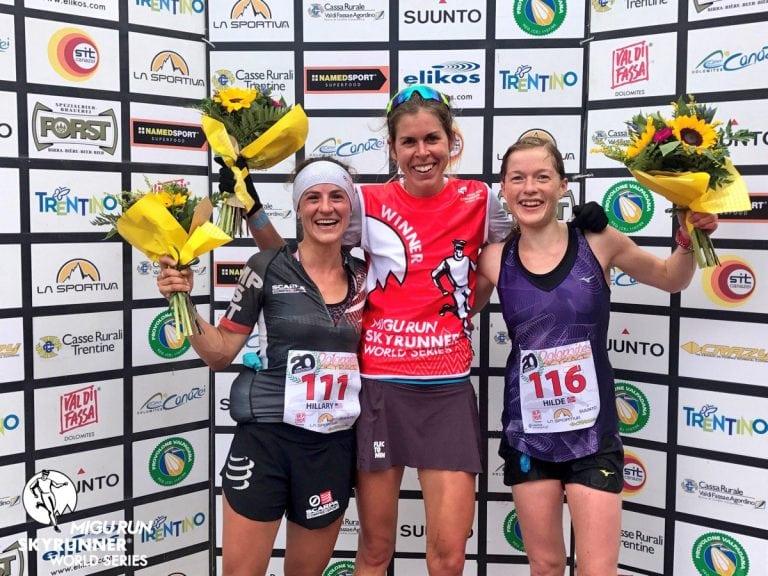 2017 Dolomites Skyrace women's podium