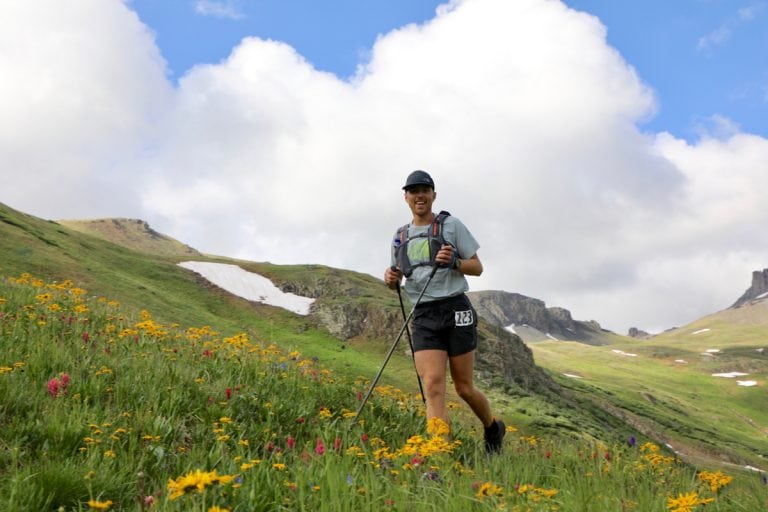 Mike Foote at Maggie Gulch - 2017 Hardrock 100