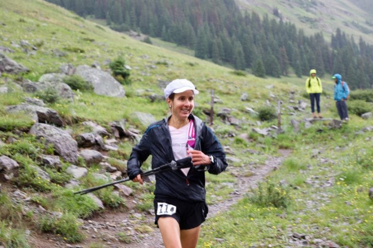 Caroline Chaverot at Grouse Gulch - 2017 Hardrock 100
