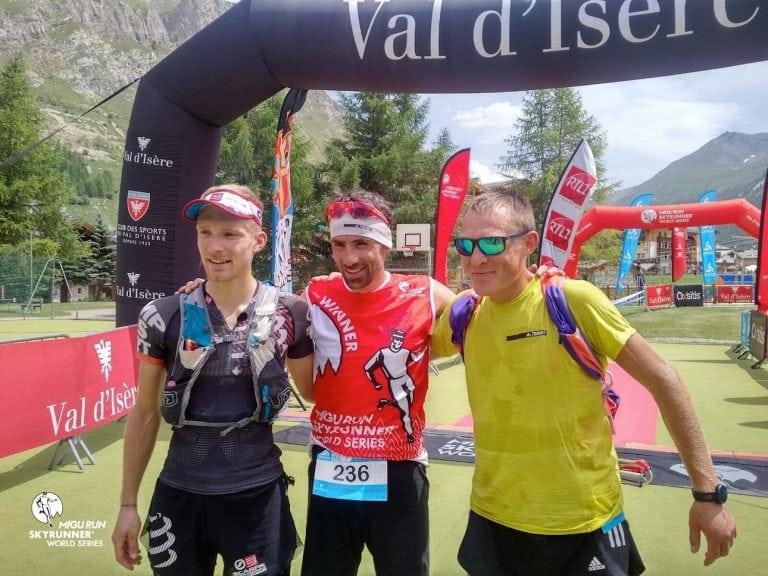 2017 High Trail Vanoise men's podium
