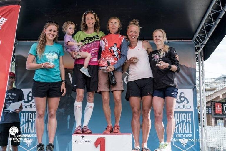 2017 High Trail Vanoise women's podium