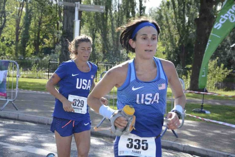 Gina Slaby and Courtney Dauwalter - 2017 IAU 24-Hour World Championships