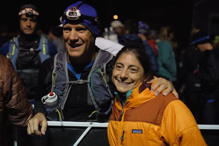 Liza and Rick at the 2017 Leadville Trail 100 Mile start