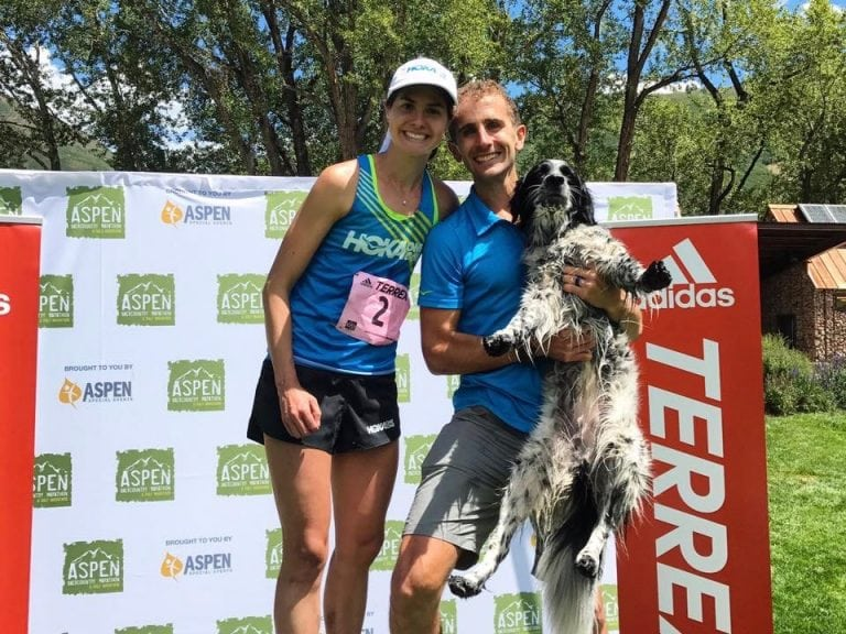 Megan and David Roche - 2017 Aspen Backcountry Marathon champions