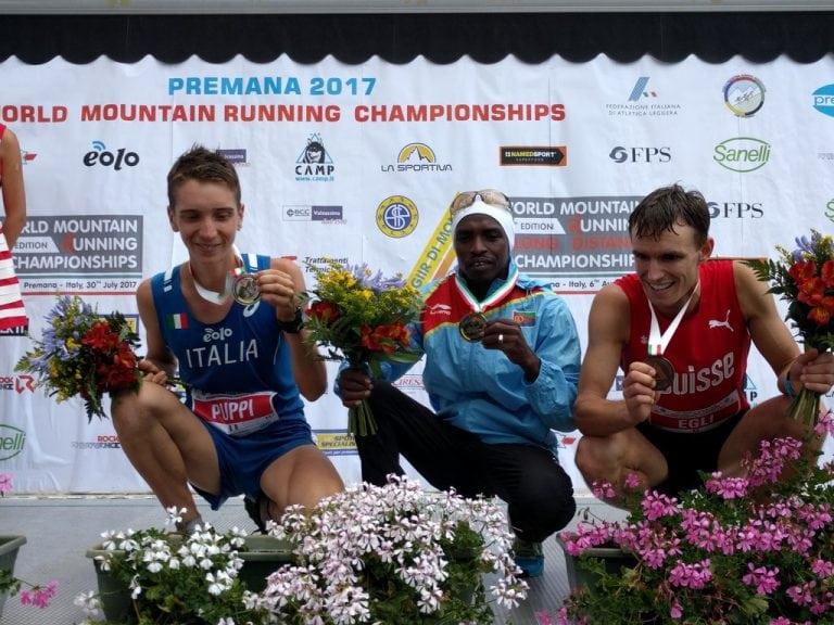2017 World Mountain Running Long Distance Championships mens podium