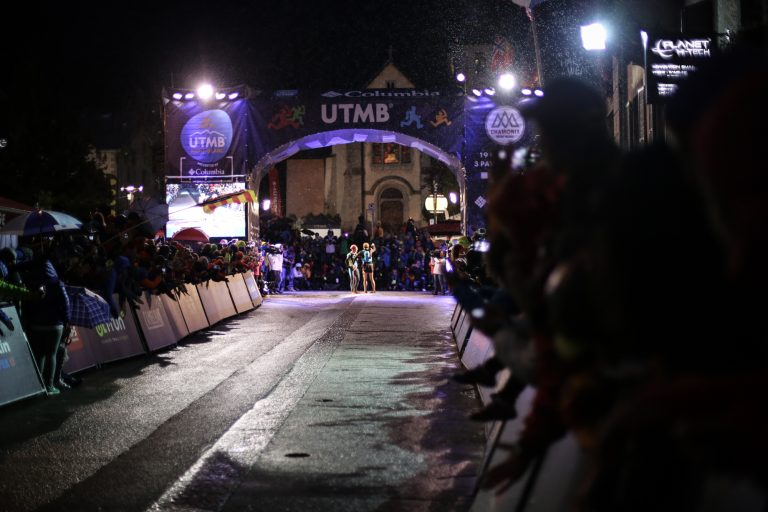 Nuria Picas and Andrea Huser finish - Kirsten Kortebein - 2017 UTMB 21