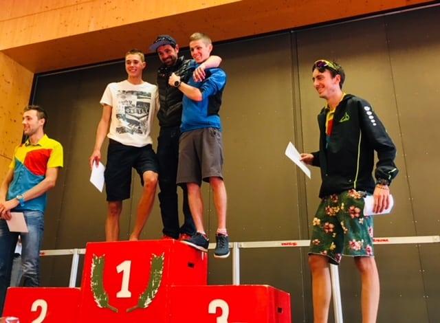 2017 KM Vertical de Fully mens podium