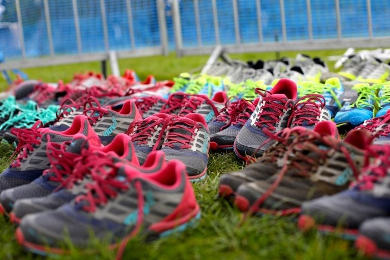 inov-8 shoes ready for testing