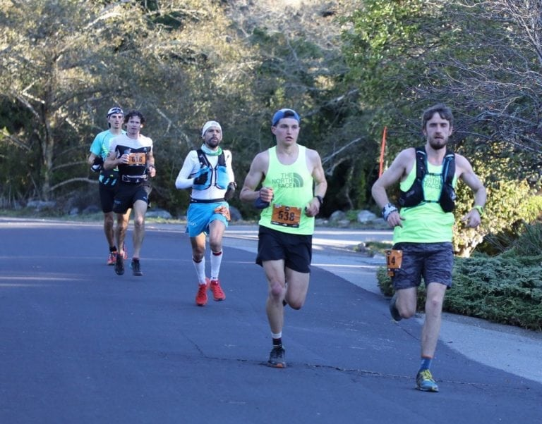 2017 TNF 50 - Stinson Beach - Paddy OLeary, Blake Hose, Tofol Castanyer, Max King, Tyler Sigl