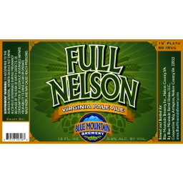 Blue Nelson Brewery Full Nelson Pale Ale