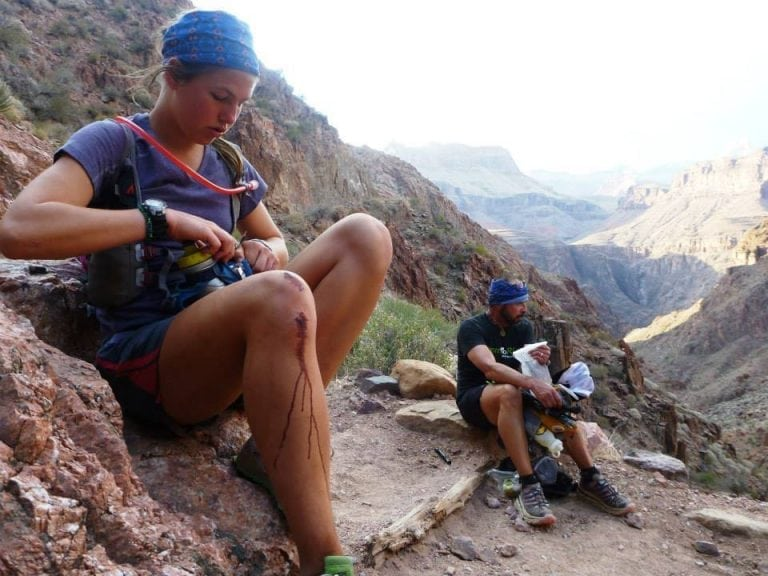 Cat Bradley during her first double Grand Canyon crossing in 2014 image 2