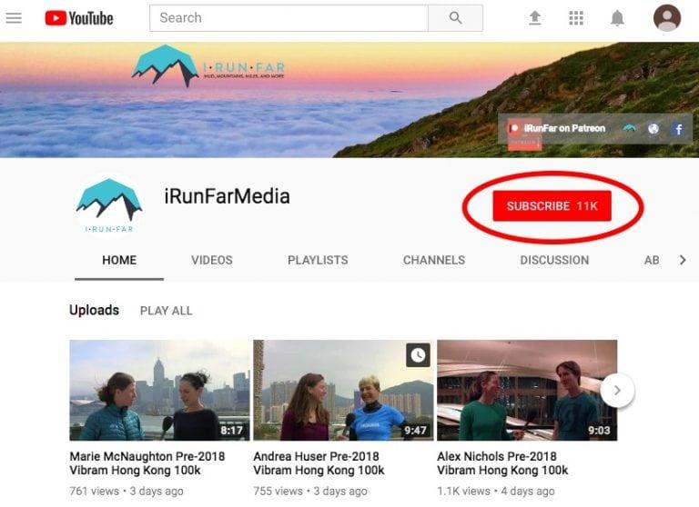 iRunFar YouTube Subscription