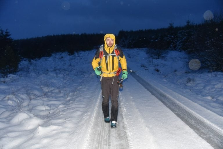 Pavel Paloncý during the 2018 Montane Spine Race
