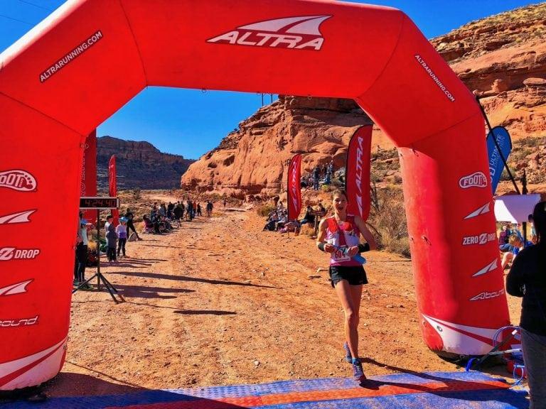 Cat Bradley - 2018 Moab Red Hot 55k champion