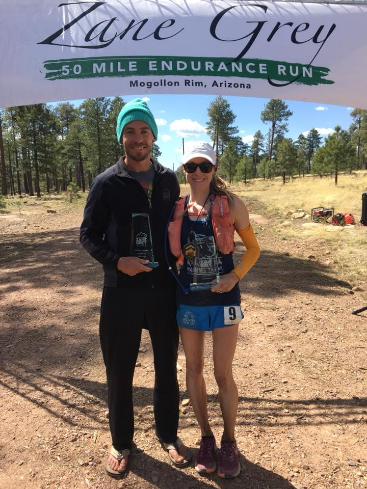 Charlie Ware and Lauren Coury - 2018 Zane Grey 50 Mile champions