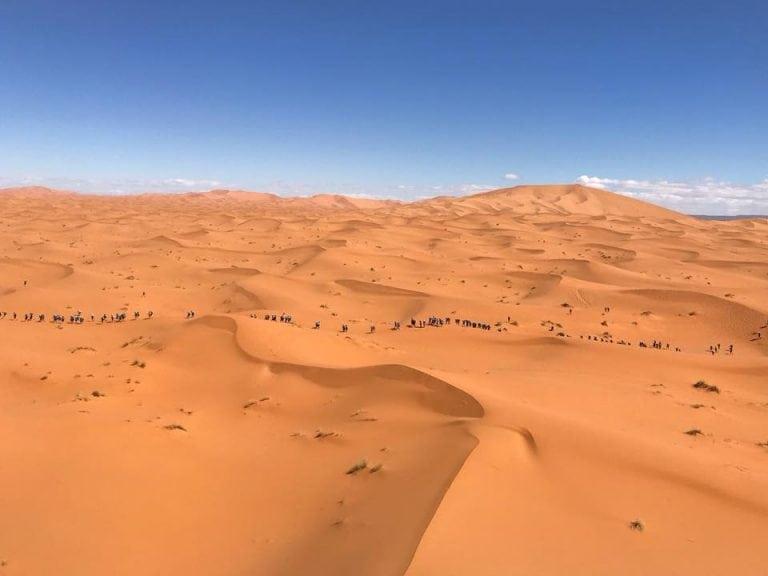 2018 Marathon des Sables in the Merozouga Dunes