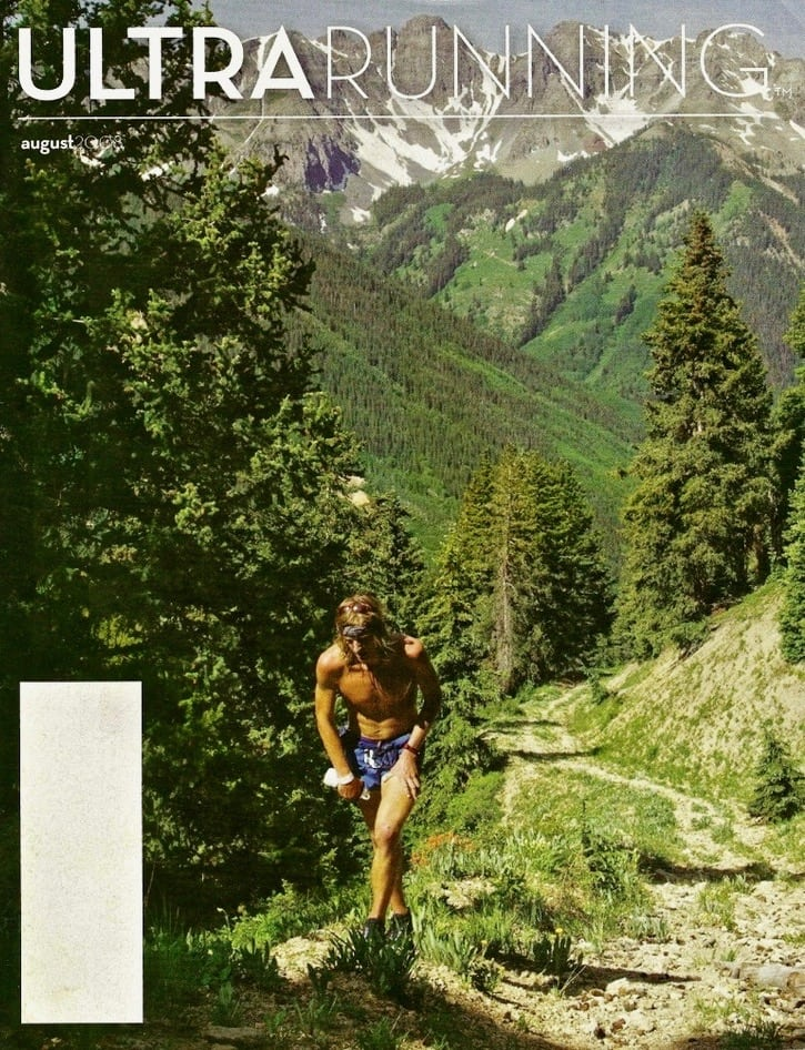 Kyle Skaggs - August 2008 UltraRunning magazine cover