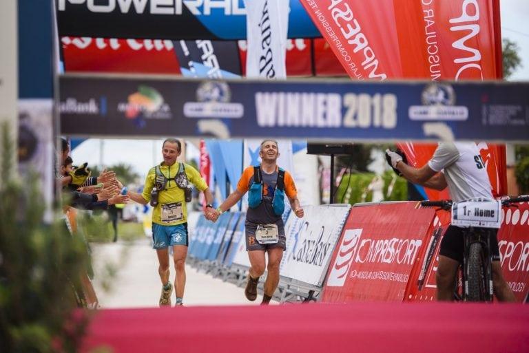 Antoine Guillon and PereLluísGarau - 2018 Trail Menorca Camí de Cavalls 185k champions
