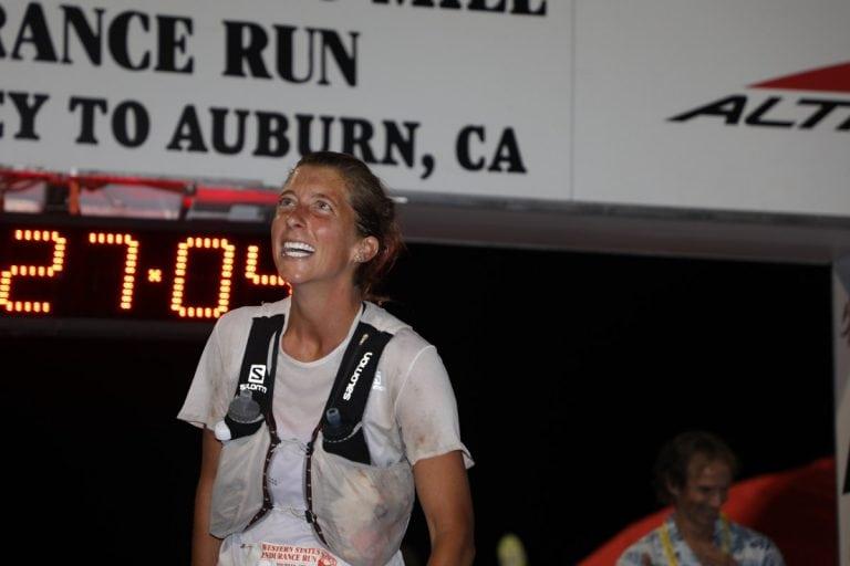 2018 Western States 100 - Courtney Dauwalter - finish