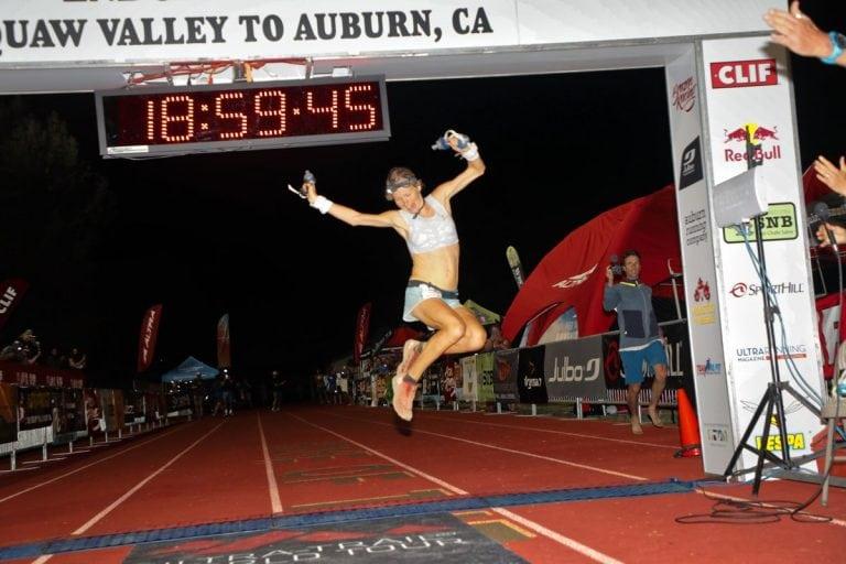 18 Western States 100 - Lucy Bartholomew - finish
