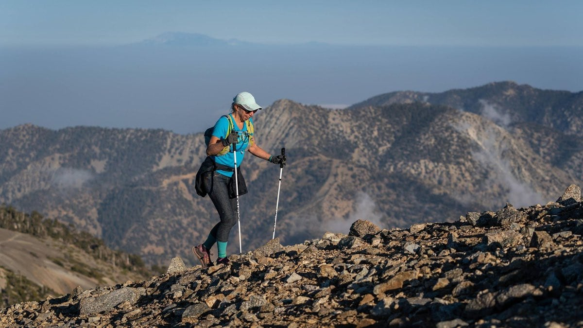 Climbing Mt Baldy in the Baldy Marathons this April. Photo: Howie Stern