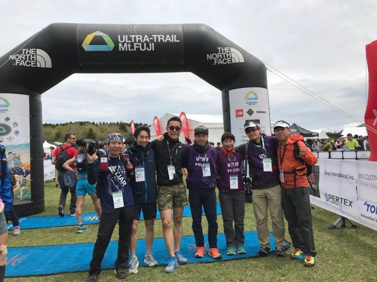 journalists at UTMF in 2018.