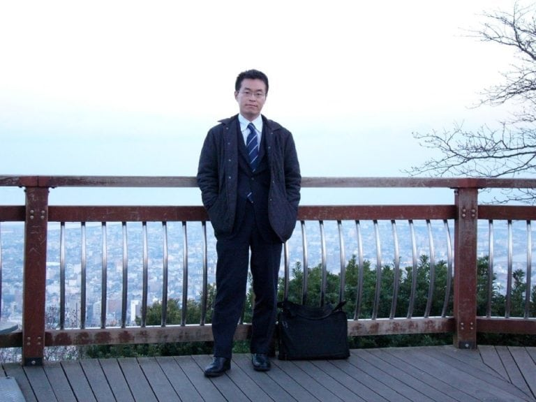 Koichi ready for work in 2002.