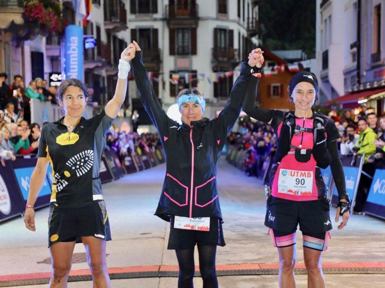 2018 UTMB womens podium
