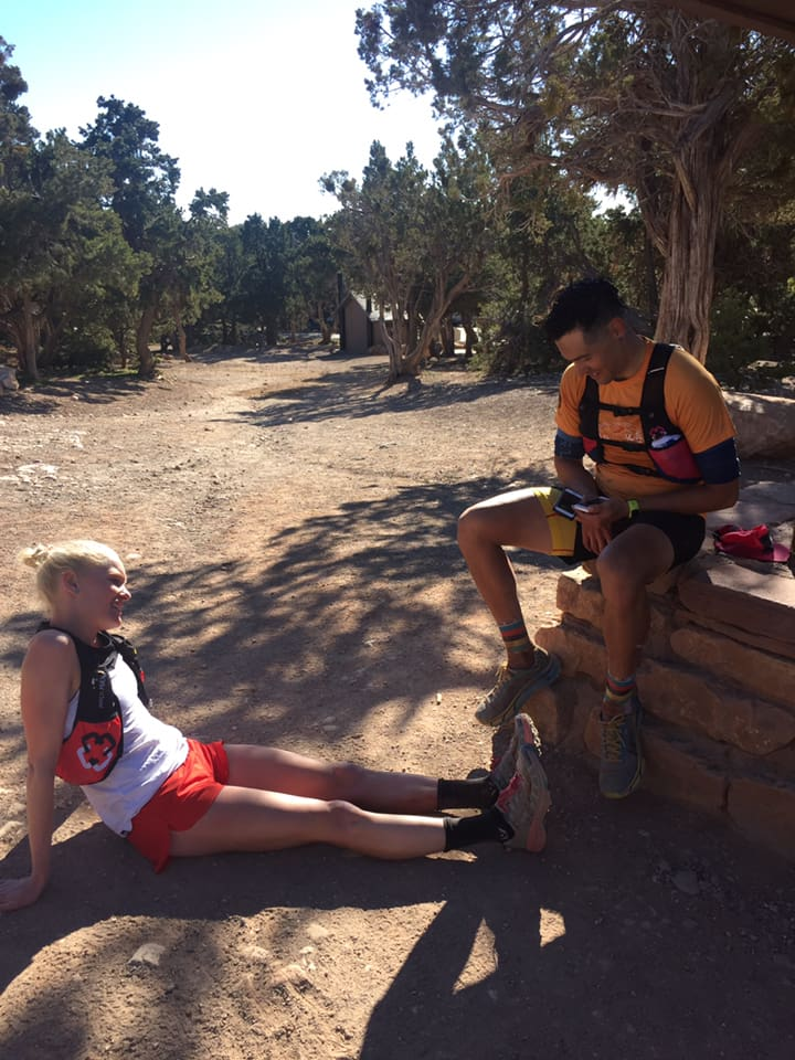 Taylor Nowlin after her R2R2R FKT.
