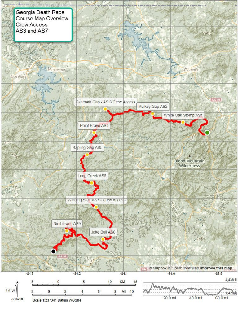Georgia Death Race course map