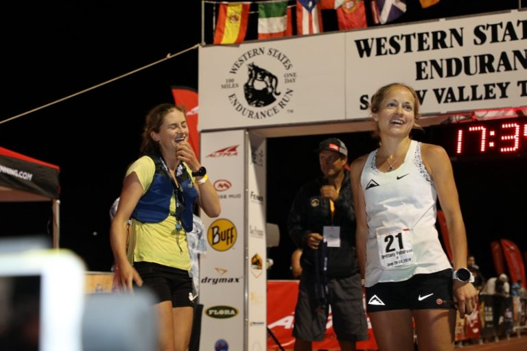 2019 Western States 100 Finish line - Clare Gallagher - Brittany Peterson