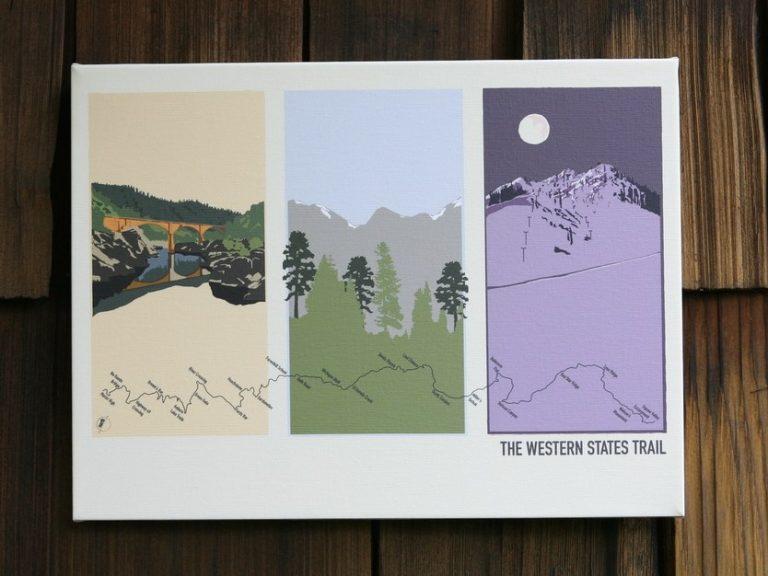 Maggie Tides Design - Westen States 100 print