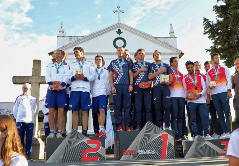 2019 Trail World Championships - Men's team podium