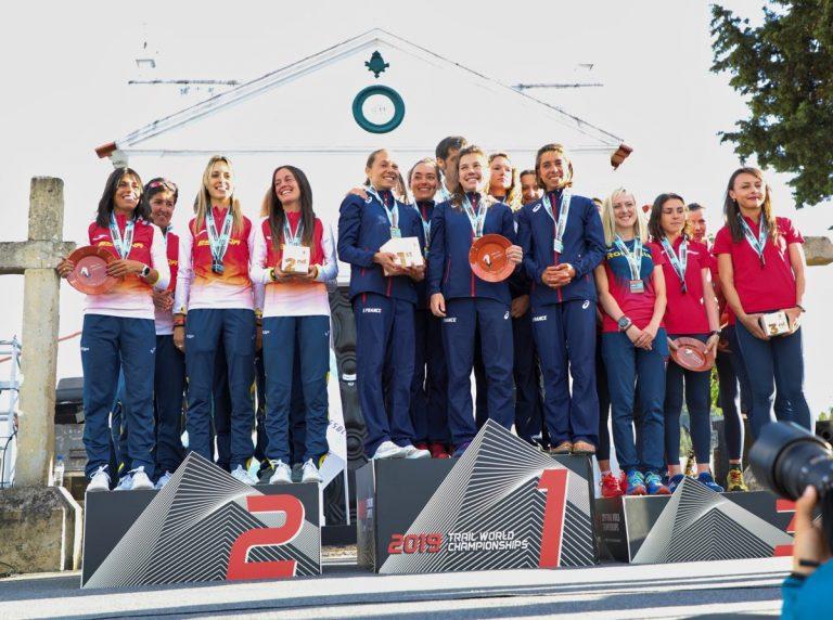 2019 Trail World Championships - Women's team podium