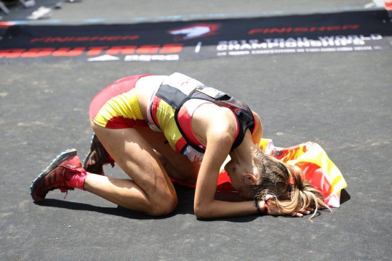 Spain's Sheila Avilés after placing third.
